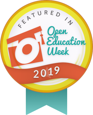 Featured in Open Education Week Badge