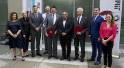 Members of Latvian delegation with MIT J-WEL team